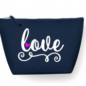 Love Swirl Make Up Bag - Cosmetic Canvas Case