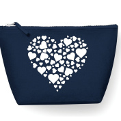 Heart Of Hearts Design Make Up Bag - Cosmetic Canvas Case