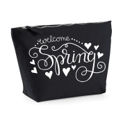 Welcome Spring Statement Make Up Bag - Cosmetic Canvas Case