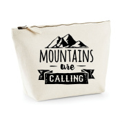 Mountains Are Calling Adventure Statement Make Up Bag - Cosmetic Canvas Case