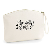 The Story Of Us Statement Make Up Bag - Organic Cosmetic Wristlet Case
