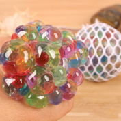Tracfy Colourful Grape Balls Mesh Squishy Stress Relief Balls , Non Toxic Rubber Anti Stress Balls Sensory Balls for Autism Mood Squeeze Relief