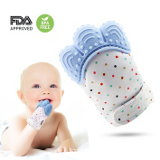 Soothing Teething Mitten-Safe Food Grade Teething Mitt BPA Free,Prevent Scratches Glove Stay on Babys Hand,teething Toys