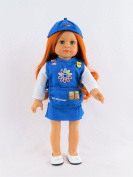 Girl Scout Daisy Outfit | Fits 46cm American Girl Dolls Made such as American Girl, Madame Alexander, Our Generation, etc | 46cm Doll Clothes