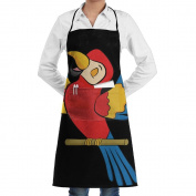 Novelty Cute Parrot Sing Song Kitchen Chef Apron With Big Pockets - Chef Apron For Cooking,Baking,Crafting,Gardening And BBQ