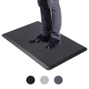 VIVA OFFICE Anti-Fatigue Standing Comfort Mat for Office and Home, Black
