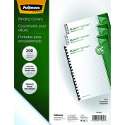 Fellowes Crystals Clear PVC Binding Covers, Letter, 200 Pack