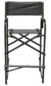 Lightweight Folding Tall Directors Chair with Padded Armrest