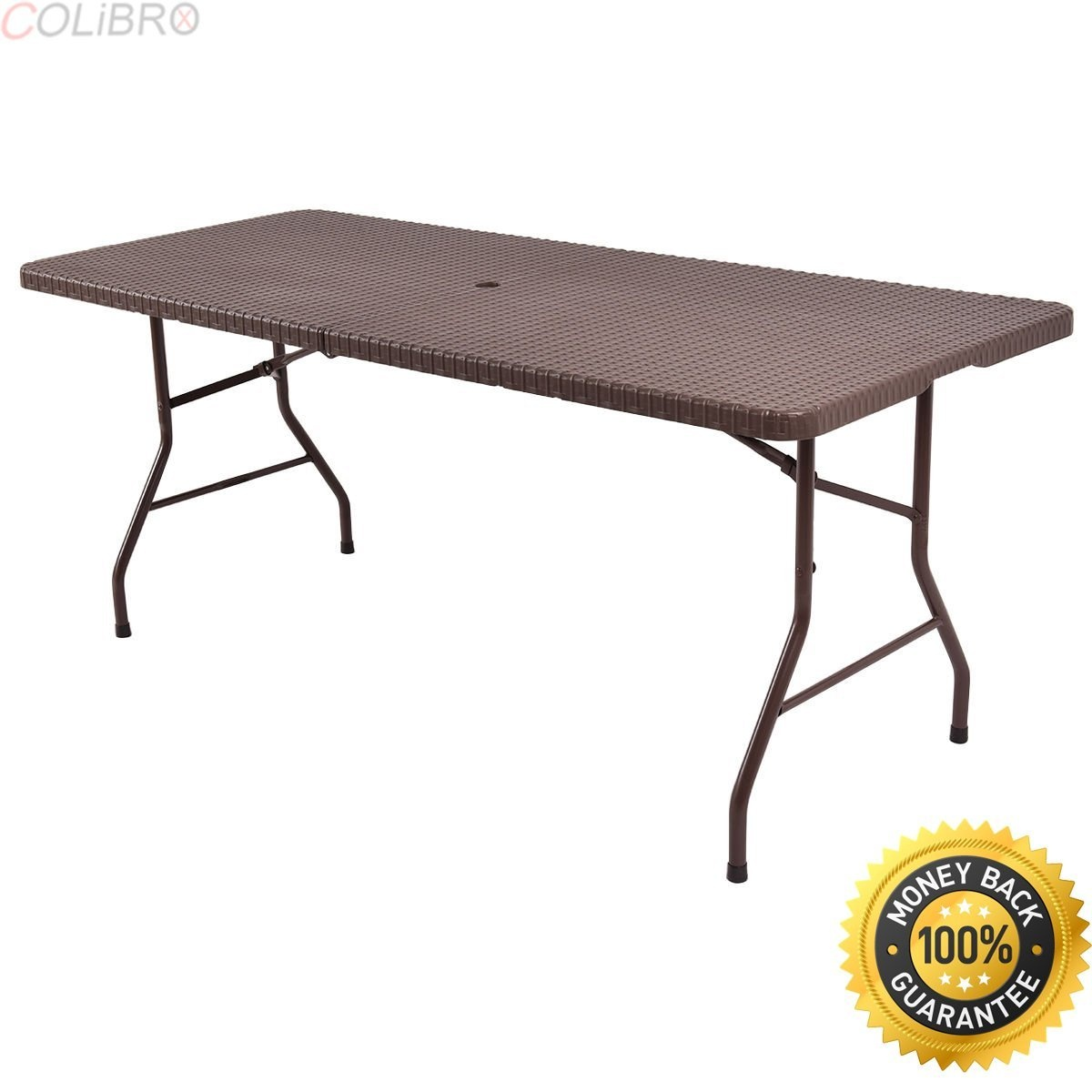 Colibrox 1 8m Folding Table Rattan Portable Indoor Outdoor Picnic Party Dining Camping Conference Tables Best