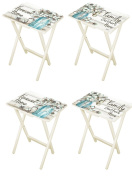 Forever Home TV Tray Tables - Set of 4
