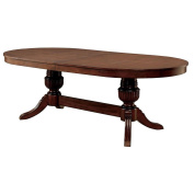 Parvin Oval Dining Game Table in Brown Cherry Wood