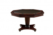 Osier 140cm Round Dining Game Table in Dark Cherry Wood