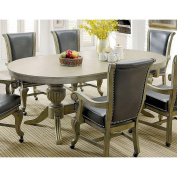 Parvin Oval Dining Game Table in Champagne Wood