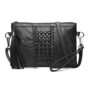 Domybest Classic Women Mini Messenger Shoulder Bag Black Small Rivet Cross Body Bags