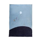 Achille and Zebrito Velvet Blanket 100 x 140 cm - Noukie's