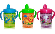 3 x Handle Cup Zoo Baby Training Spill Proof 6+ Months BPA FREE