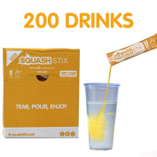 Squash Stix | Orange | 200 Sticks (Drinks) | Water cooler | Office Drinks