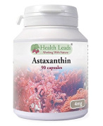 Astaxanthin 4mg x 90 capsules (100% Pure & Additive Free Food Supplement | High Strength, Powerful Antioxidant | From Natural Haematococcus Pluvialis Red Algae | UK Manufactured