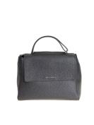 Orciani Women's B02006SOFTNERO Black Leather Handbag