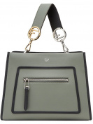 Fendi Women's 8BH344SIZF10FF Grey Leather Handbag