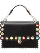 Fendi Women's 8BT283A0VOF0X93 Black Leather Handbag