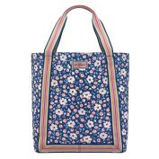 Cath Kidston Navy Island Flowers Reverse Coated Tote Bag