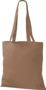 Shirt in Style Premium Fabric Bag Cotton Bags Tote Bag Shoulder Bag Shopping Bag, Colour Caramel
