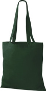 Shirt in Style Premium Fabric Bag Cotton Bags Tote Bag Shoulder Bag Shopping Bag, Colour Bottlegreen