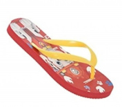 Paw Patrol Child Red Flip Flops Size 31/32