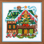 RIOLIS 1663 House with One Bell Cross Stitch Kit, Cotton, multicolour, 38cm x 1cm
