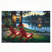 Hunpta 5D Landscape Diamond Rhinestone Pasted Embroidery Painting Cross Stitch Home Decor