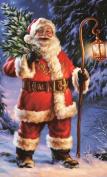 Kingko® DIY Handmake Cross Stitch Christmas Santa Claus Theme Embroidery Kit Full Diamond 5D Painting Embroidery Cross Stitch Mosaic Bedroom Home Decor