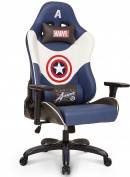 Licenced Marvel Avengers Captain America Superhero Ergonomic High-Back Swivel Racing Style Desk Home Office Executive Computer Video Gaming Chair with Headrest and Lumbar Support, Neo Chair