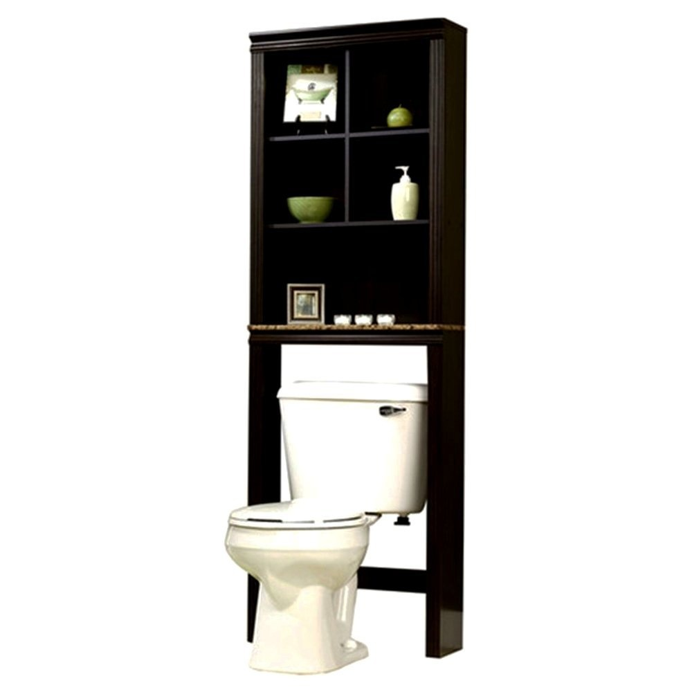 Bathroom Furniture Placed Over The Toilet E Storage Saver Made Of Pewter
