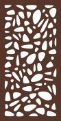 MODINEX Decorative Screen Panel - PEBBLES Design - 0.6m x 1.2m Size - Espresso - 80% Privacy