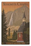 Yosemite Chapel and Yosemite Falls, California
