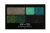 BYS Glitter Glitz Eye Shadow Makeup 6pcs Palette - Paradise Greens