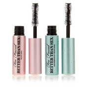 Too Faced . Sex Mascara Duo Regular and Waterproof Mini Travel Size .500ml Each