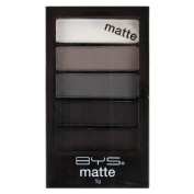 BYS 5 Shades Eyeshadow Compact Eye Makeup Palette with Applicator - Matte Deep Space