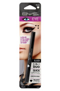 BYS Matte 2in1 Duo Liquid Eyeliner Ultrafine Tip Pen with Heart Stamp Black