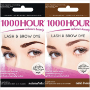 1000 Hour Eyelash & Brow Dye Kit Permanent Mascara Natural Gentle Plant Extract
