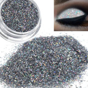 Quartly Long Lasting Glitter Shimmering Colours Eyeshadow Metallic Silver Eye Shadow Pigment Powder Cosmetic Makeup