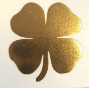 Metallic Gold 4 leaf Clover (3 pack) Temporary Tattoo