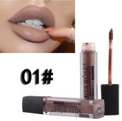 MISS YOUNG Long Lasting Lipstick Hosamtel Single Colour Sexy Kissproof Non-Stick Cup Velvet Matte Liquid Lip Gloss Moisturising Lip Stains Lip Glaze (12 Colours for Choose)
