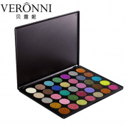 Eyeshadow, Sacow 35 Colours Shimmer Eye Shadow Palette Diamond Eyeshadow Cosmetic Makeup