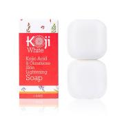 Kojic Acid & Glutathione Skin Lightening Soap ( 80ml / 2 Bars ) - Brightening & Bleaching Skin Tone Formula – Reduce Acne Scars, Wrinkles Elimination, Removal Acne Scars, Dark Spots And Freckles