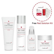 Medicube Red Line Full SET with Red Solution Kit - Toner, Serum, Cream, Foam Cleanser, and Red Solution Kit Included