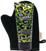 Snooki Leg Bronzer Skin Firming Indoor Tanning Bed Lotion for Legs + Tanning Mitt - Flawless Fake Tanning Gel Lotion | Tanning Cream | Instant, Fast-Drying, Streak-Free Self Tan | Natural Tanning