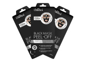 L'Biotica Black Peel Off Mask- Deep Cleansing, Blackhead and Whitehead Remover, Charcoal Face Mask, Get Glowing Skin In First Use