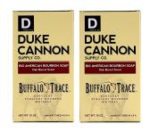 Duke Cannon Bourbon Soap - Buffalo Trace Kentucky Straight Bourbon Whiskey Bar Soap - Oak Barrel Scent, 300ml